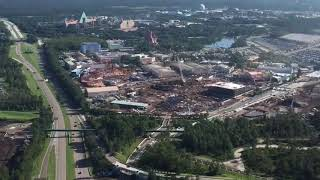 Download Aerial Flyover of Star Wars Land and Toy Story Land Construction - Disney's Hollywood Studios, WDW Video