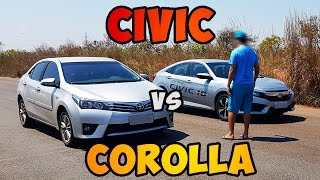 Download Teste 0-100 HONDA CIVIC 2.0 2017 [VS] COROLLA 2.0 2015 Video