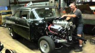 Download Junkman inc 548 Big Block Blower Motor Transplanted into 57 Chevy Video
