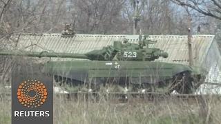 Download Dozens of Russian tanks deployed close to Ukrainian border Video