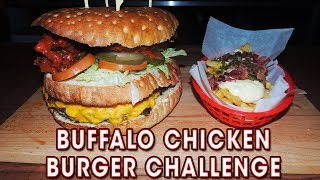 Download Undefeated Buffalo Chicken & Bacon Cheeseburger Challenge!! Video