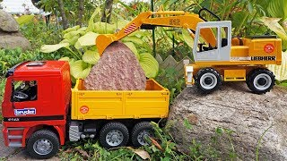 Download Toy truck & toy excavator 🚚 Toy truck videos with Bruder toys. Truck toys and excavator for kids Video
