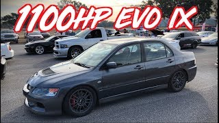 Download 1100HP Sequential Evo IX goes 190mph - 55psi of BOOST! Video