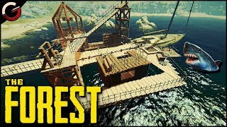 Download EPIC WATER BASE! BUILD and DEFEND on the YACHT | The Forest Gameplay Video