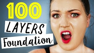 Download 100 LAYERS OF FOUNDATION!! So Disgusting!! Video