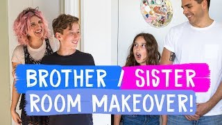 Download Surprise Brother and Sister Room Makeovers! | Mr. Kate Decorates Video