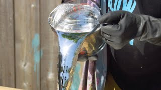 Download Pouring a Liquid Mirror in Slow Motion - The Slow Mo Guys 4K Video