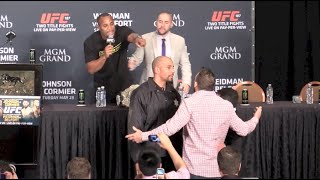 Download Daniel Cormier and Ryan Bader Nearly Come to Blows at UFC 187 Post-Fight Press Conference Video