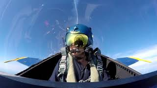 Download Cleveland reporter flies with Blue Angels. Spoiler alert: she passes out and pukes Video
