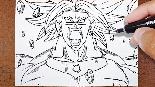Download Como Desenhar BROLY O Lendário Super Saiyajin [Dragon Ball Z] Video