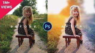 Download Photoshop Tutorial | How to Edit Outdoor Portrait | ( Blur & Color Background ) Video