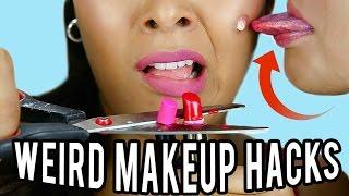 Download 10 Weird Makeup HACKS You've NEVER Seen Before! NataliesOutlet Video
