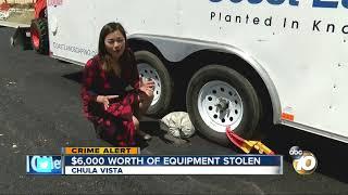 Download $6,000 worth of construction equipment stolen Video
