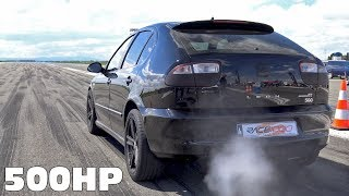 Download Seat Leon Cupra R Turbo 500HP Tuning - Anti Lag Exhaust Sounds! Video