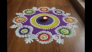 Download Easy ,Beautiful And innovative rangoli designs with colours by Shital Daga Video