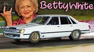Download Betty White Out-Launches a GTR! Video