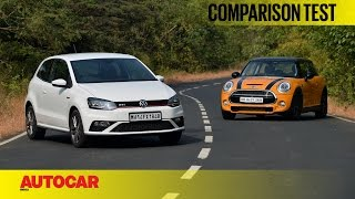 Download Mini Cooper S vs Volkswagen GTI | Comparison Test | Autocar India Video