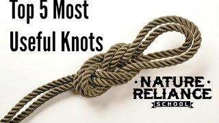 Download Top Five Useful Knots for camping, survival, hiking, and more Video