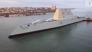 Download USS Zumwalt: US-Zerstörer verfeuert 800.000 Dollar pro Schuss Video