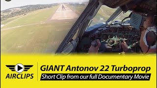 Download MUST SEE! Captain Vova wrestling down his Antonov 22 for a PERFECT Landing in Zurich! [AirClips] Video