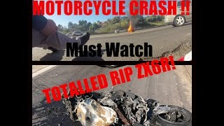 Download MY MOTORCYCLE CRASH! Bike Catches on FIRE! Video