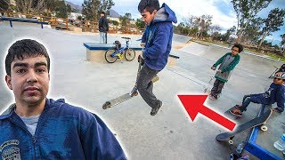 Download KID DOES FIRST SCOOTER TRICK! Video