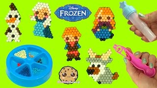 Download Make Disney Frozen Queen Elsa, Princess Anna, Olaf, Kristoff with Water AquaBeads Craft Playset Video