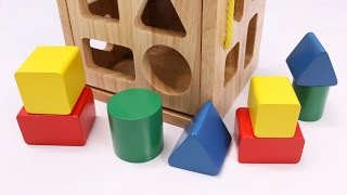 Download Learning Colors Shapes & Sizes with Wooden Box Toys for Children Video