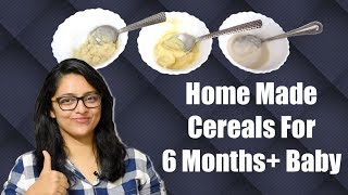 Download HOME MADE CEREALS FOR 6 MONTHS+ BABY || बच्चों के लिए घर में बने Cereals Video