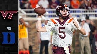 Download Virginia Tech vs. Duke Football Highlights (2018) Video