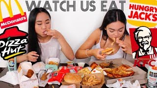 Download EPIC FAST FOOD MUKBANG // Watch Us Eat | THERESATRENDS Video