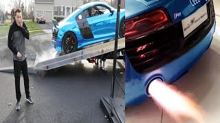 Download THE LOUDEST AUDI R8 EXHAUST EVER!? SHOOTING FLAMES Video