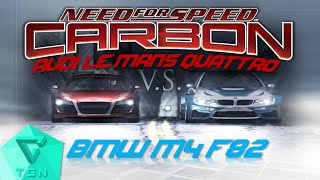 Download Need for Speed Carbon | BMW M4 F82 (No Limits) vs. Audi Le Mans Quattro (Darius) [HD 60FPS] Video