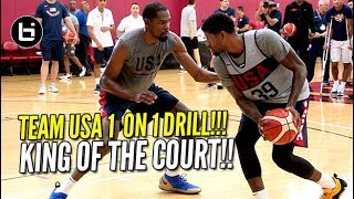 Download USA BASKETBALL CRAZY 1 ON 1 DRILL! Kevin Durant vs Paul George & More!!! Video
