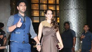 Download Yuvraj Singh With Wife Hazel Keech At Preity Zinta's Wedding Reception 2016 Video