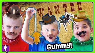 Download MYSTERY Gummy Vs Real! Western Theme with HobbyHickory and HobbyKids PART 1 Video