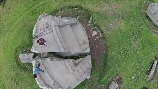 Download Quadcopter View Of Ancient Cataclysmic Damage In Peru Video
