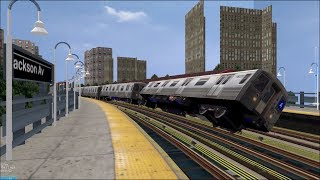 Download OpenBVE HD Troll: NYC Subway 100 MPH Tilting R68s On The 5 Express Train (White Plains Road) Video