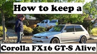 Download What it takes to keep a 1987 Corolla FX16 GT-S (AE82) alive Video