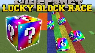 Download Minecraft: EXTREME RAINBOW LUCKY BLOCK RACE - Lucky Block Mod - Modded Mini-Game Video
