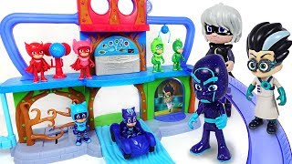Download Villains are transform into huge size! PJ Masks! Defend Headquarters Playset! - DuDuPopTOY Video
