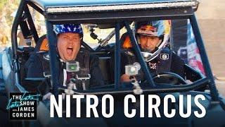 Download Nitro Circus Takes James Corden for a Ride Video