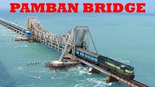 Download Train on Sea! RAMESWARAM PAMBAN BRIDGE!! Dangerous Railway Bridge! Video