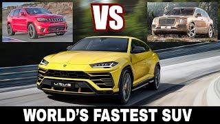 Download Lamborghini Urus vs Bentley Bentayga vs Jeep Trackhawk: Choosing Fastest SUV of 2018? Video