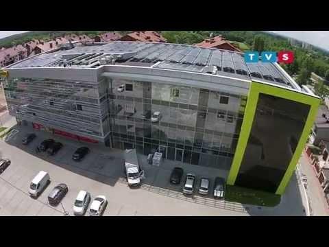 Instalacja fotowoltaiczna ML System na budynku Parku Naukowo - Technologicznego SILESIA w Katowicach.