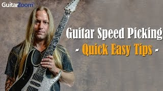 Download Quick & Easy Tips To Master Speed Picking On The Guitar | Steve Stine | GuitarZoom Video