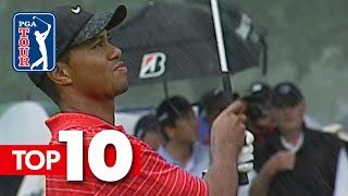Download Tiger Woods' top-10 all-time shots in World Golf Championships Video