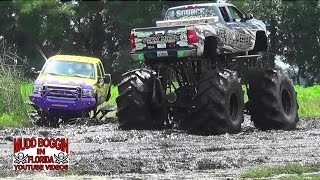 Download Monster Truck..Lucifer..Gets STUCK in a Deep Mud Hole. Video