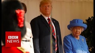 Download Trump: 'I was waiting 15 minutes for the Queen' - BBC News Video