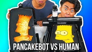 Download I Tried To Do Pancake Art Against A Pancake Art Robot Video